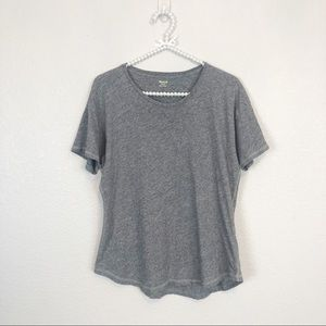 Madewell Basic Short Sleeve T-shirt Gray sz M